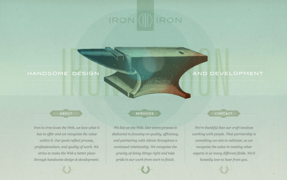 irontoiron one page