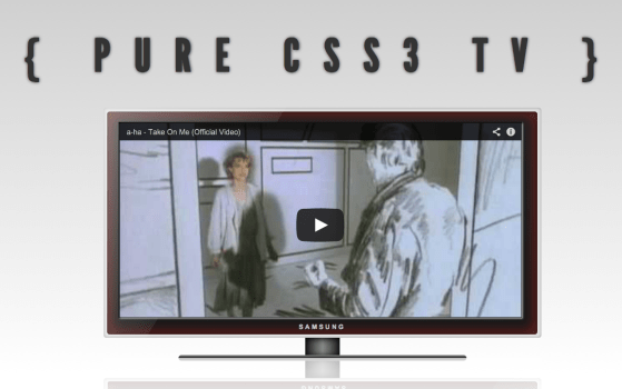 TV in Pure CSS3