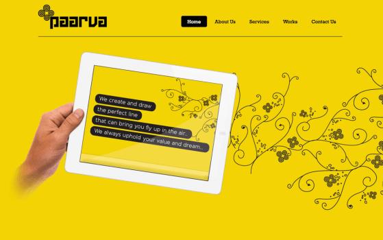 paarva creations yellow websites