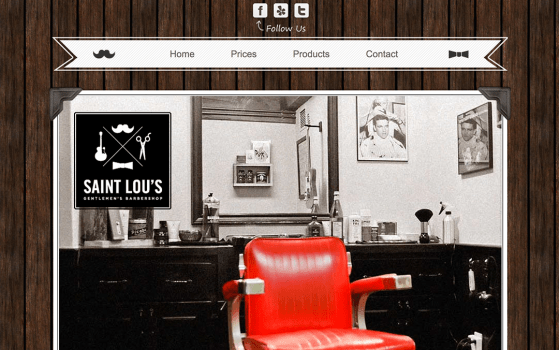 saint lous one page barber website