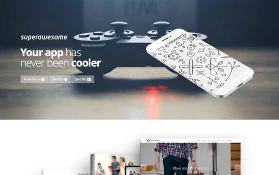 superawesome landing page template