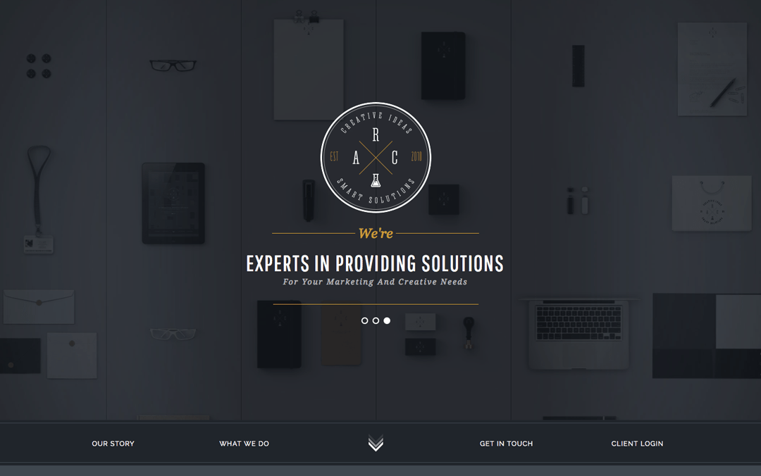 Flat one page website