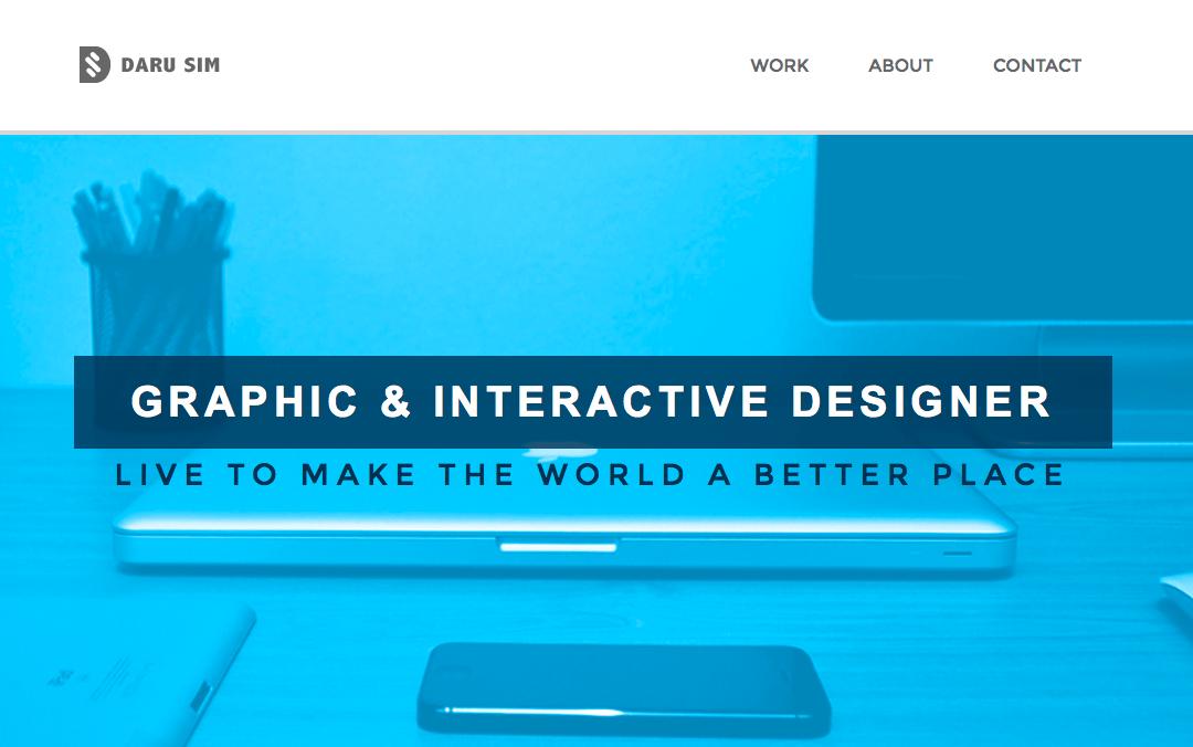 Daru Sim one page site.