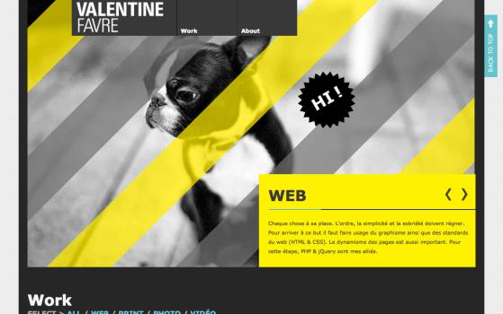 valentine favre's one page site