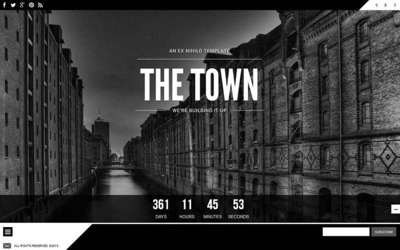 The Town Coming Soon Template