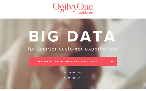 One page websites for A Day in Big Data