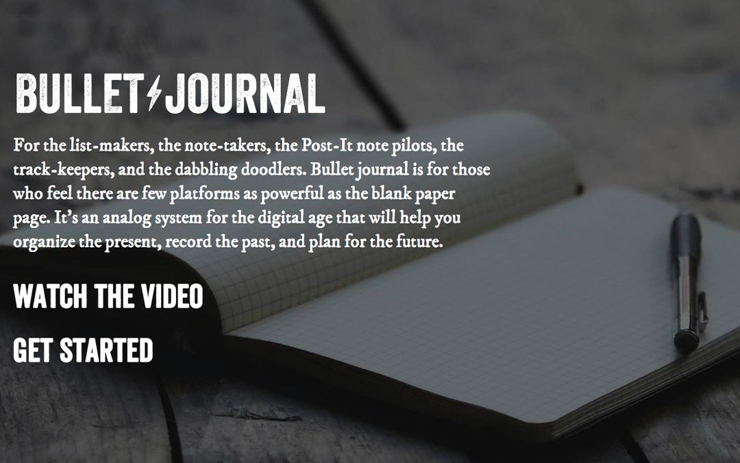bullet journal app website