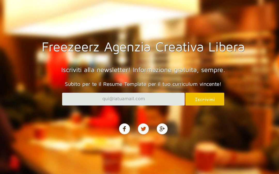 Freezeerz - Landing Page