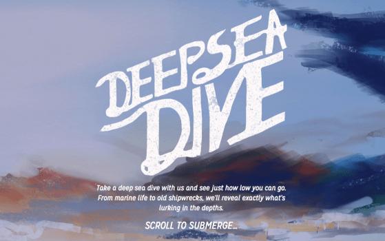 Deep Sea Dive Website