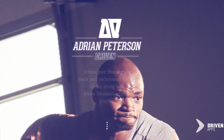 Adrian Peterson Driven One Page Site