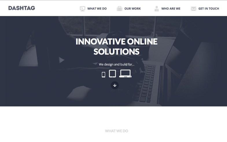 Dashtag one page Design