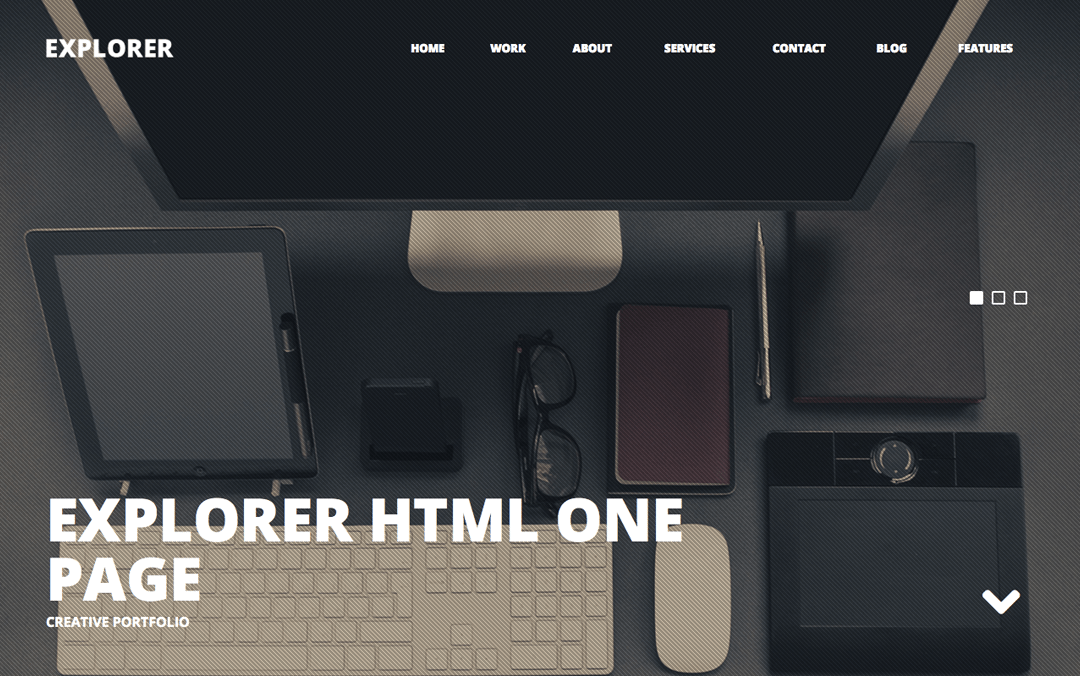 Explorer One page template