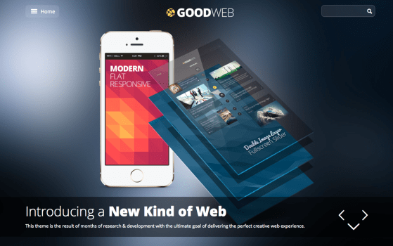 GoodWeb - One & Multi Page Theme for WordPress