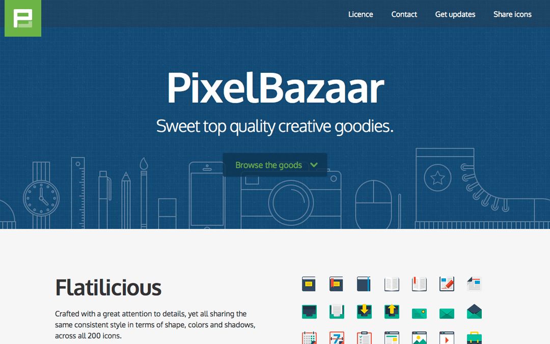 love this one page site by pixel bazaar