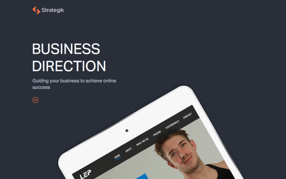 strategik single page web design