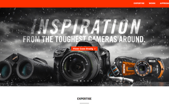 one page design agency website
