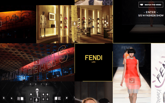 fendi responsive fashion website