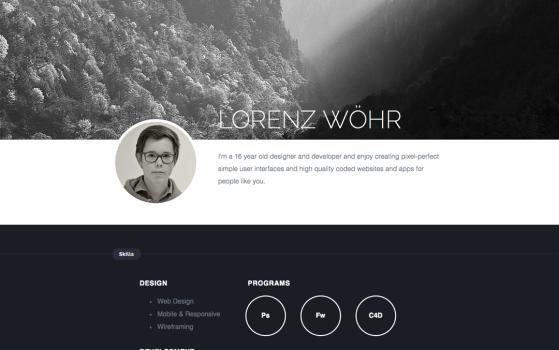 lorenz woehr one page
