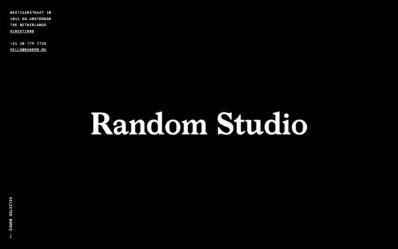 random studio in amsterdam