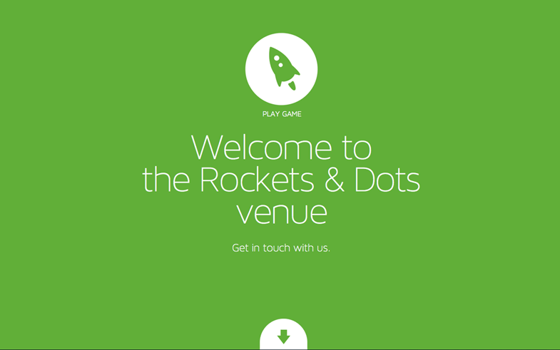 Rockets & Dots single page websites
