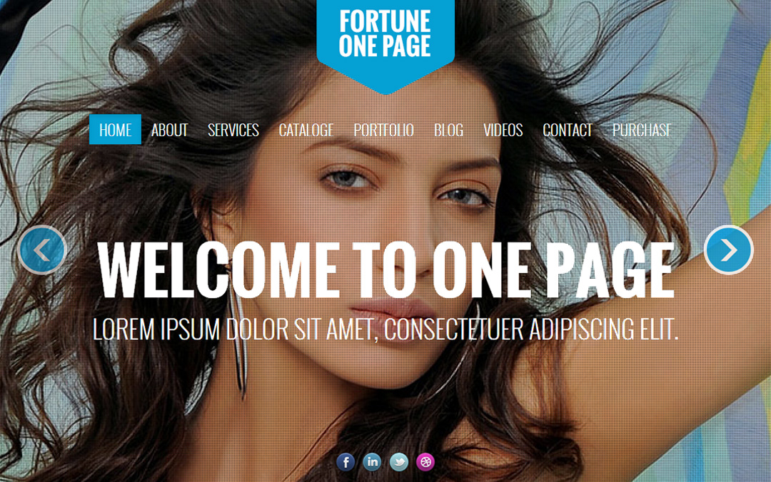 AliA one page reponsive template