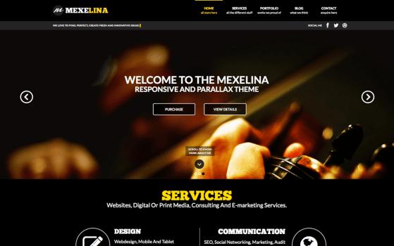 Mexelina - Onepage Creative Portfolio Template
