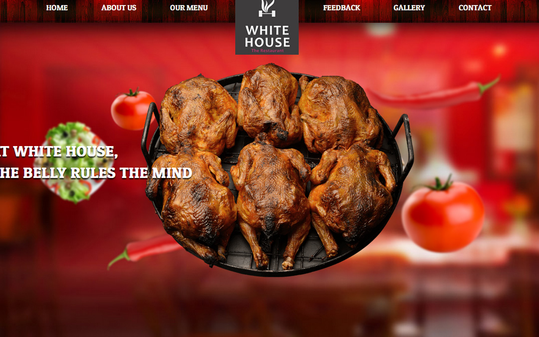 white house restaurant website