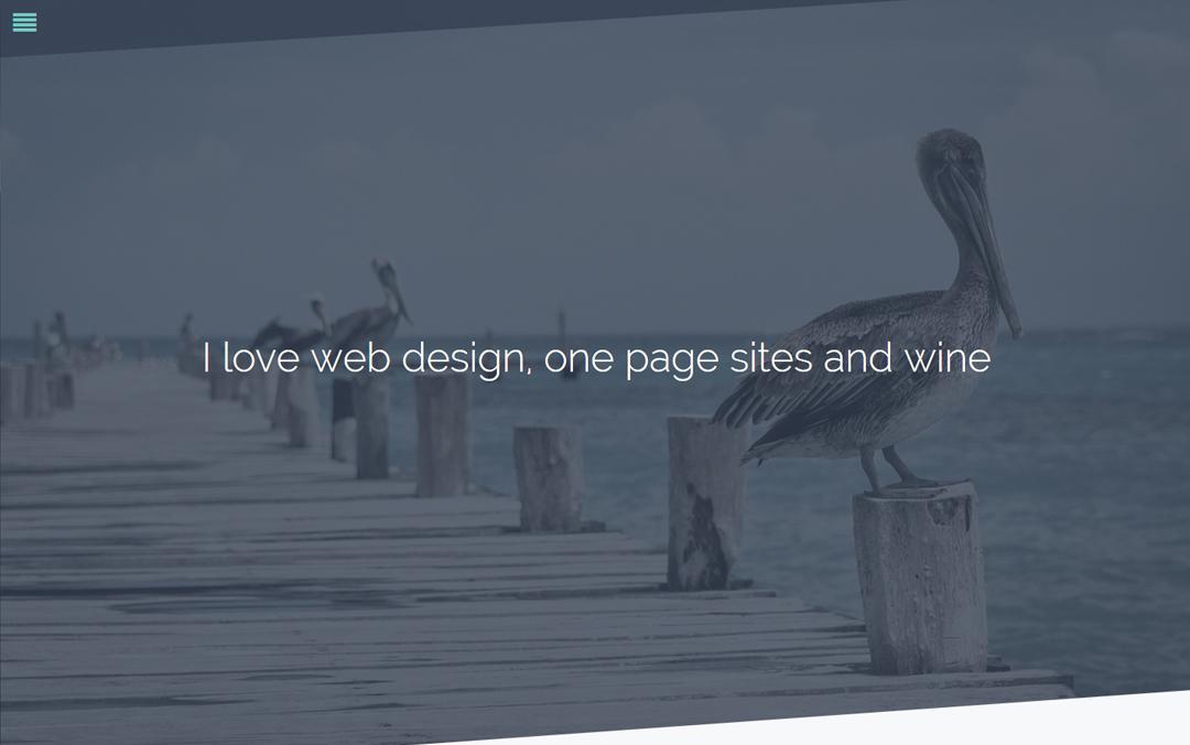 Pure – One Page Personal Portfolio