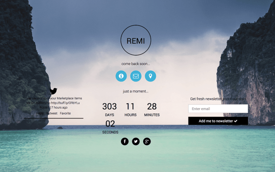 remi responsive template