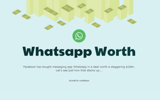 how much is whatsapp worth