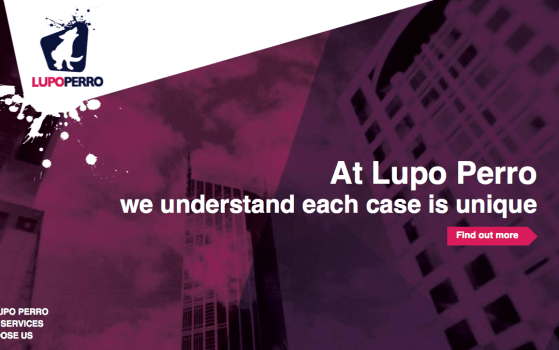 lupo perro one pager site