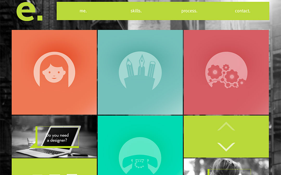 elena giannotti single page web designer