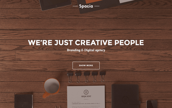 spacia one page template