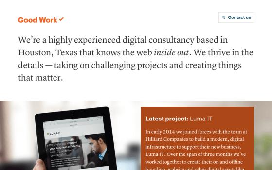 one page website designer