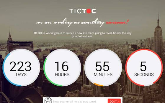 tictoc one page countdown template