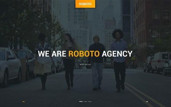 roboto website template