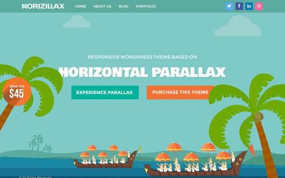 Horizontal Scrolling Parallax Theme for Wordpress