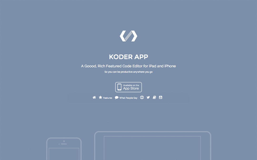 one page app website