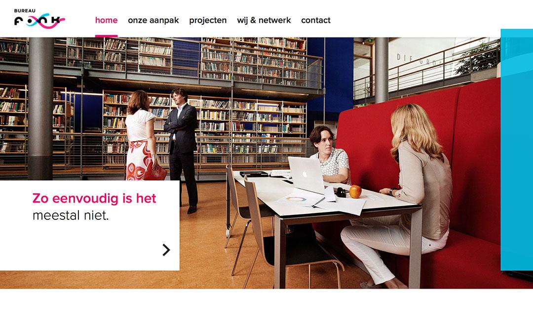 bureau fonk one page company website