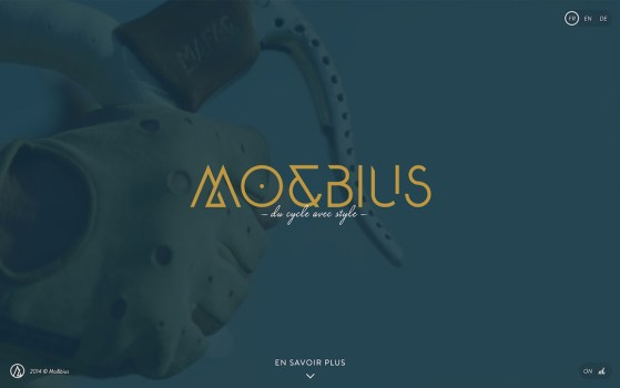 MO&BIUS single page website