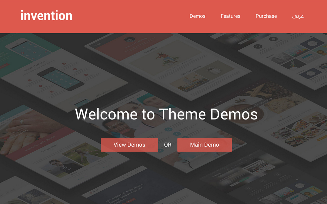 Invention - Responsive Multi-Purpose WordPress Theme