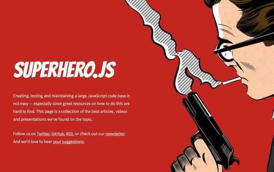 superhero.js red one page website
