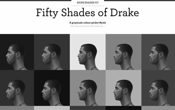 one page site for drake