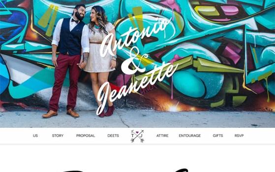 one page wedding website