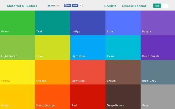 colorful one page website