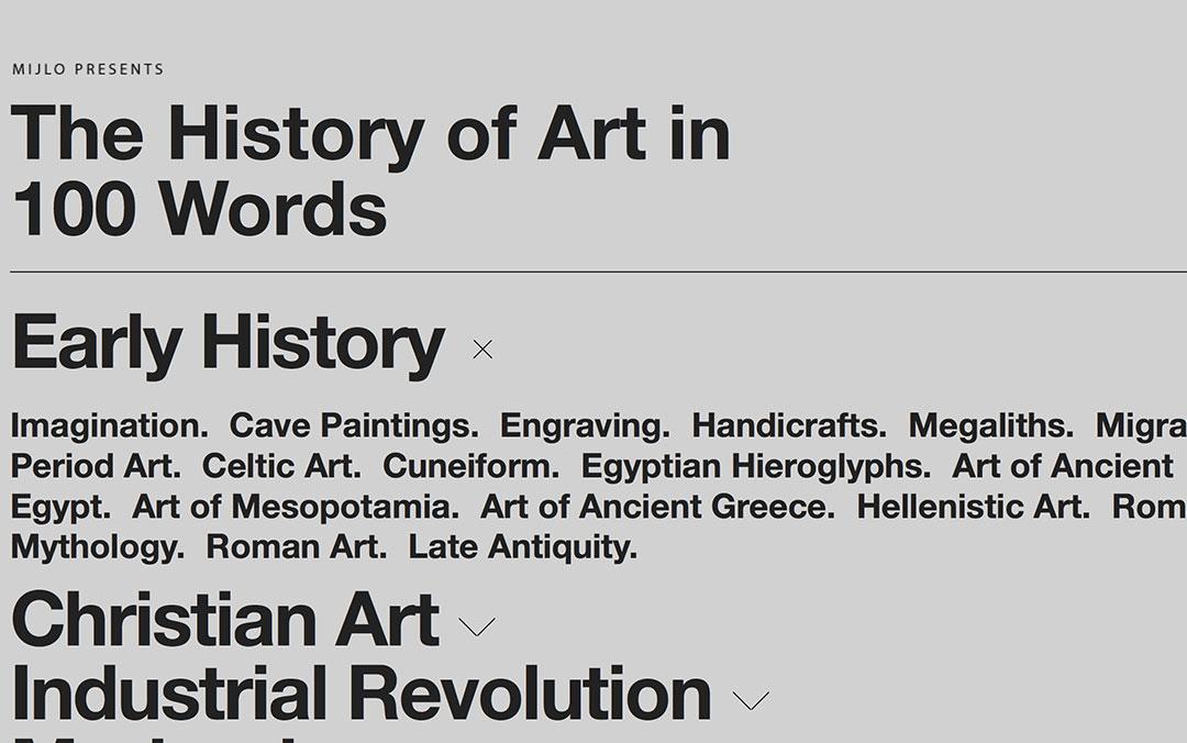 history of art website