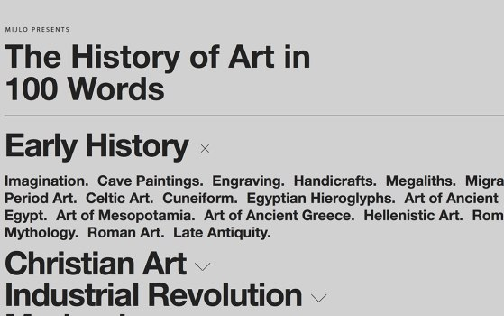 history of art website