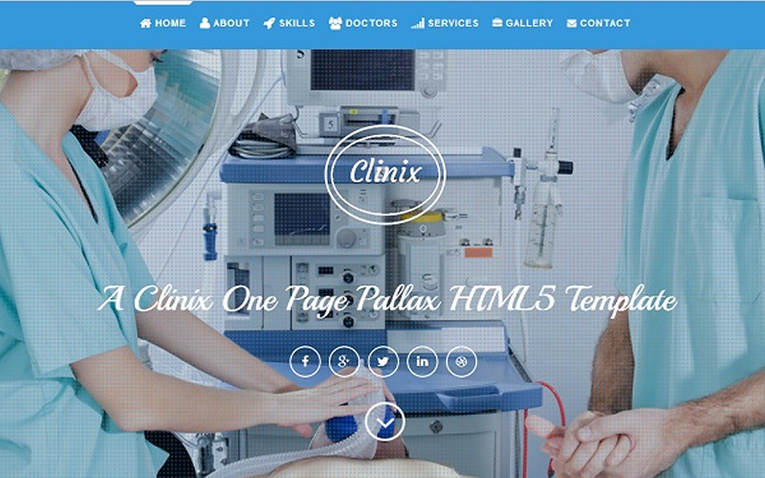 one page medical website