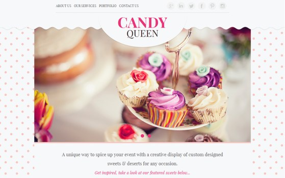 girly website template