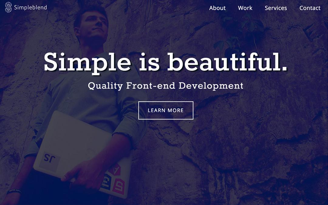 simpleblend front-end developer